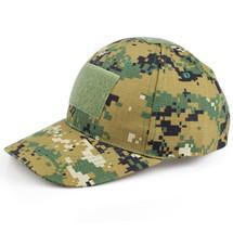 BV Tactical Baseball Cap Hat in Digital Woodland camo