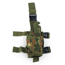 BV Tactical Leg Holster in Digital Woodland