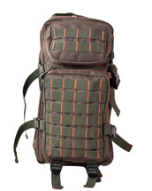 Small Assault Backpack Rucksack 28 Litre in Green and Red
