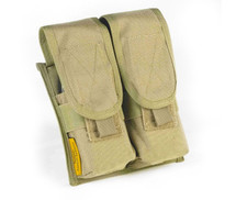 MOLLE Double Retention Ammo Pouch Coyote Tan