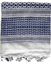Shemagh Keffiyeh Arab Scarf in Blue & White