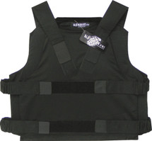 KEVLAR PANEL VEST IN BLACK