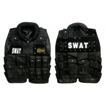KIDS WELL FIRE TACTICAL SWAT VEST IN BLACK