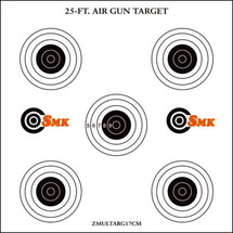 SMK Card Air Gun Target Multi x 100pc x 14cm