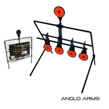 swinging Knock Down Target for air rifles 4+1