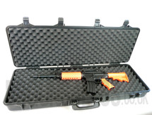 Gun Carry Rifle Case in Tough plastic large size in Tan