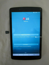 "LG G Pad F LG-V496 8.0"" Display 16GB <Cracked Screen> 5-4"