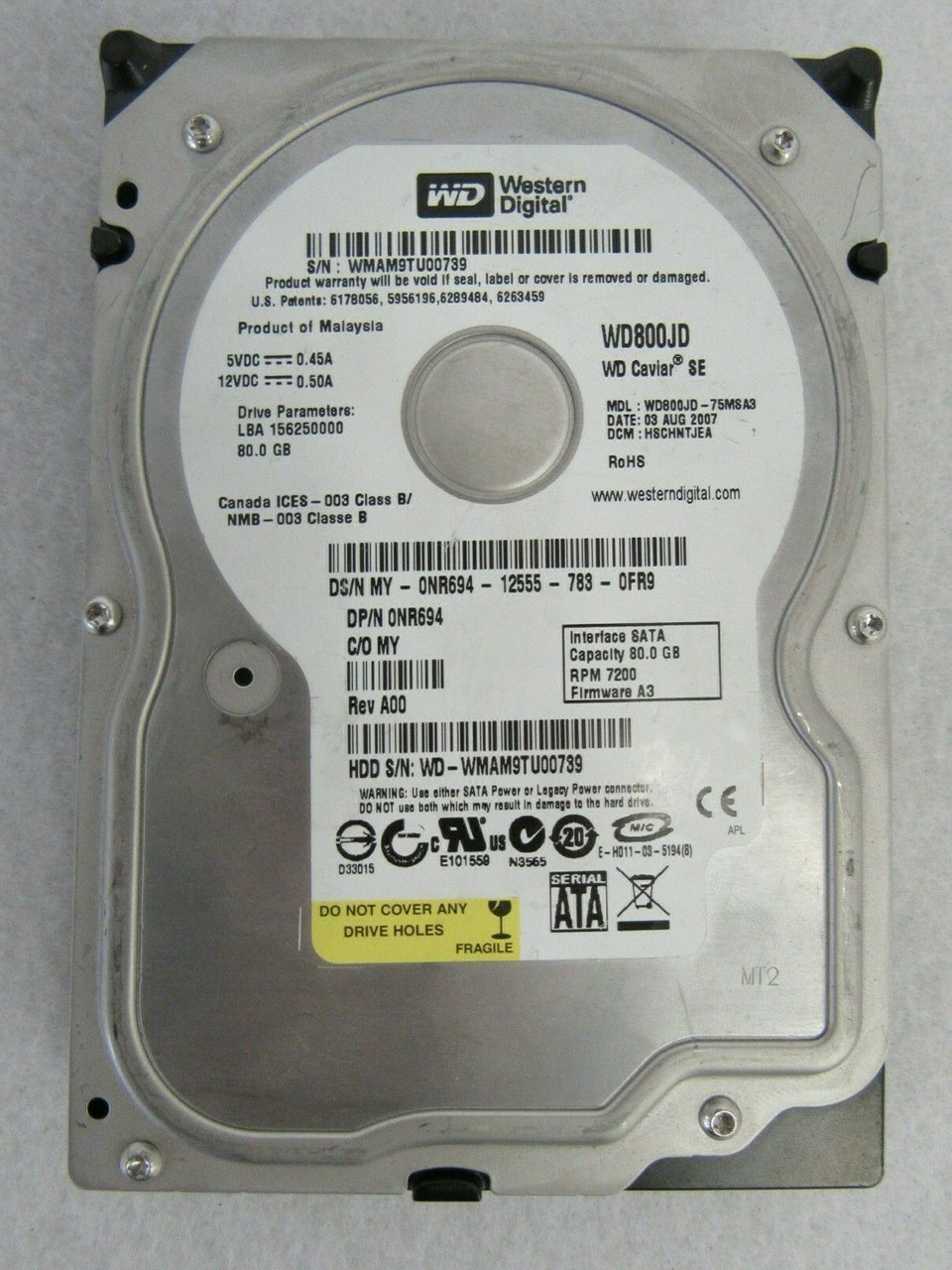 Internal Hard Drive Dell XF719 300GB