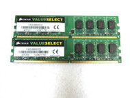 Lot of 2 Corsair Value Select VS2GB800D2 2GB DDR2 800MHz PC2-6400 Memory B16