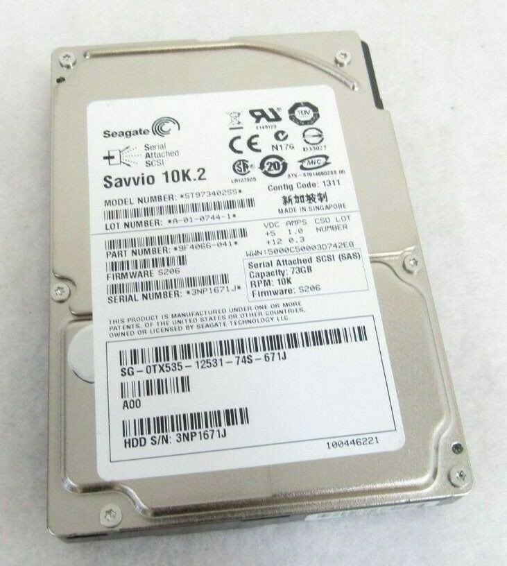"Seagate ST973402SS 73GB 10K SAS 2.5/"" HD Savvio 10K.2"