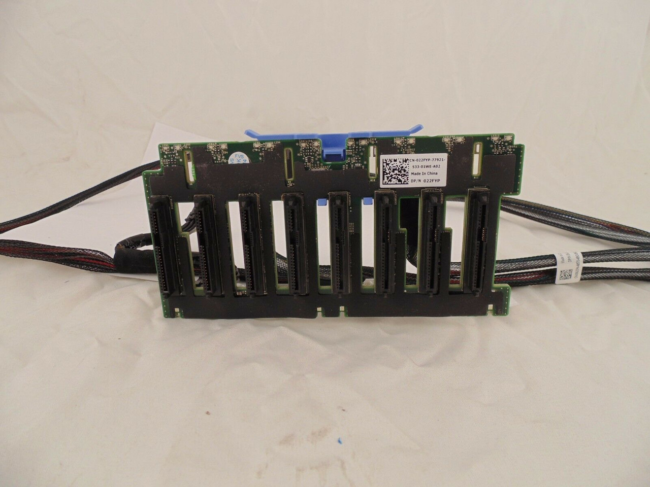 """Dell 22FYP PowerEdge R720 R820 8 x 2.5/"""" SFF Hard Drive Backplane V2 w// Cables"""