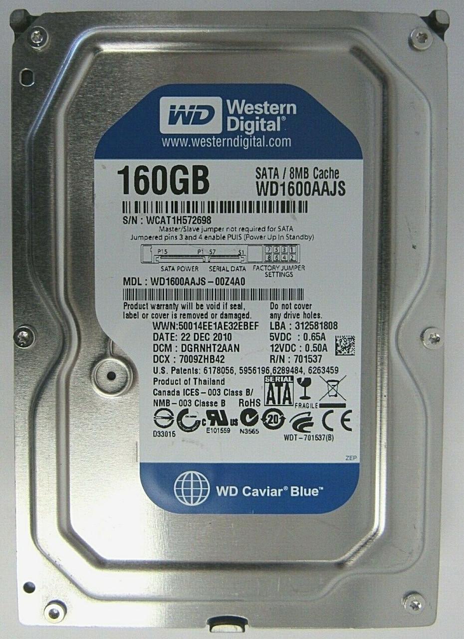 """Western Digital 160 GB 7200 RPM 3.5/"""" WD1600AAJS-75PSA0 SATA Hard Drive TESTED!"""