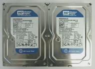 """LOT of 2 Dell 0K017C Western Digital WD2500AAJS-75M0A0 250GB SATA 3.5"""" HDD 1-5"""