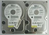 "LOT of 2 Western Digital WD5000AAKS-41YGA 500GB SATA 3Gbps 16MB 3.5"" HDD 58-3"