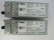 LOT OF 2 Dell 0VPR1M VPR1M C570A-S0 570W Power Supply 37-2