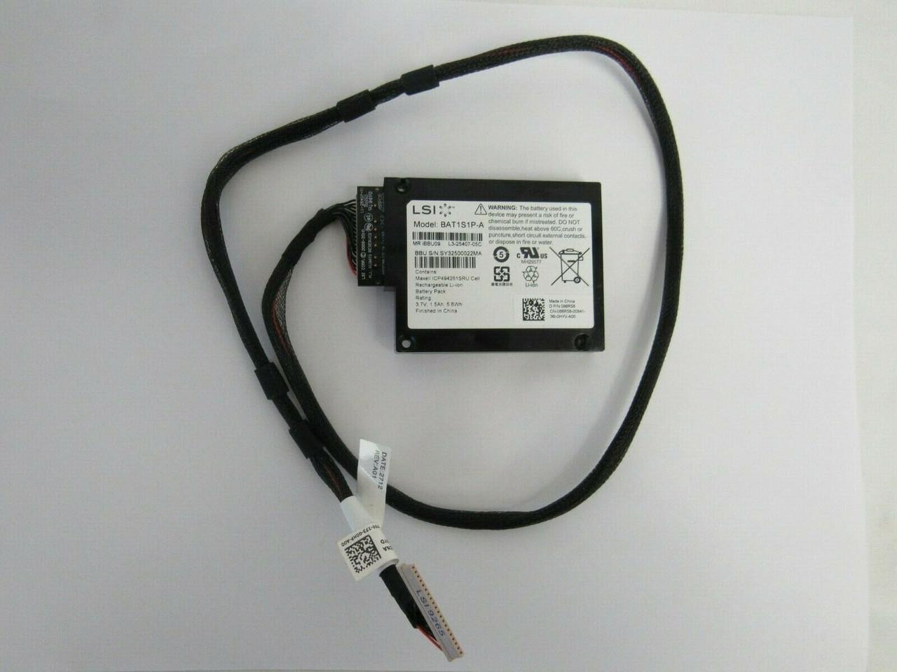 LSI BAT1S1P-A MR iBBU09 Batt LSI00279 9265 9266 9270 9271 w//Caddi /& Cable C-3