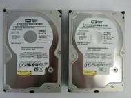 """LOT OF 2 Western Digital WD1600JS WD1600JS-55NCB1 160GB 3.5"""" 7.2K SATA HDD 74-3"""