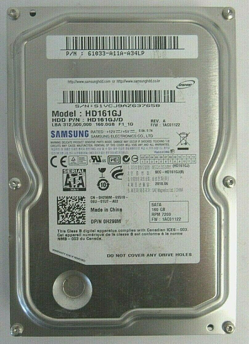 DELL 0H298M SAMSUNG HD161GJ 160GB SATA HDD