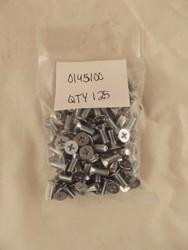 FASTENAL 0145100 M5-0.8 x 12mm Phillips Flat Head Zinc Steel Screw Qty125 V1 S