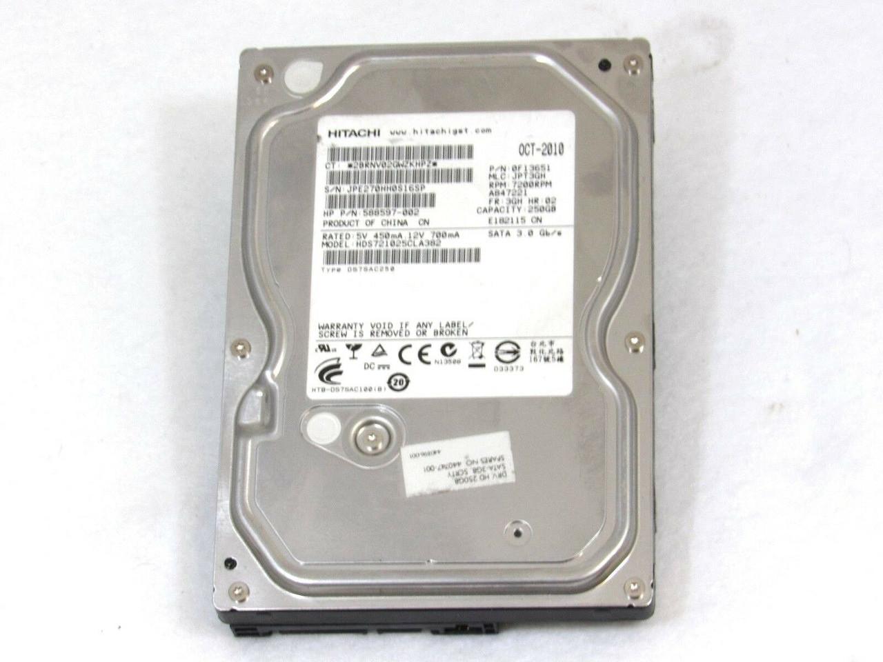 """Seagate 250GB SATA HARD DRIVE 7200RPM 3.5/"""" for Desktop Western HITACHI"""