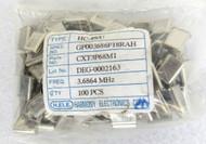 Lot of 100 Harmony Electronic CXT3P68M1 HC-49/U HC-49U 3.6867 MHz Ocillator 27-4