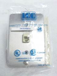 ICC IC630DA6SS Single Gang Stainless Steel Phone Face Plate 72-2