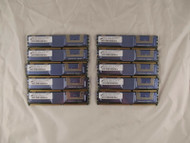 Lot of 10 Micron MT9HTF12872FY-667E1N6 1GB PC2 ECC Fully Buff Server Memory 4-4