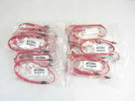 Lot of 30 Supermicro CBL-0044L Red SATA Cable SATA3 III 6Gbps Amphenol 2ft A11
