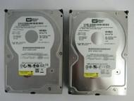 """LOT OF 2 Western Digital WD1600JS WD1600JS-00NCB1 160GB 3.5"""" 7.2K SATA HDD 21-4"""