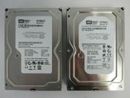 """LOT OF 2 Western Digital WD1600AAJS WD1600AAJS-00WAA0 160GB 3.5"""" SATA HDD 19-2"""
