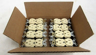 1 Lot of 16 Leviton NEMA 5-15 Duplex Ivory Outlet 50-5