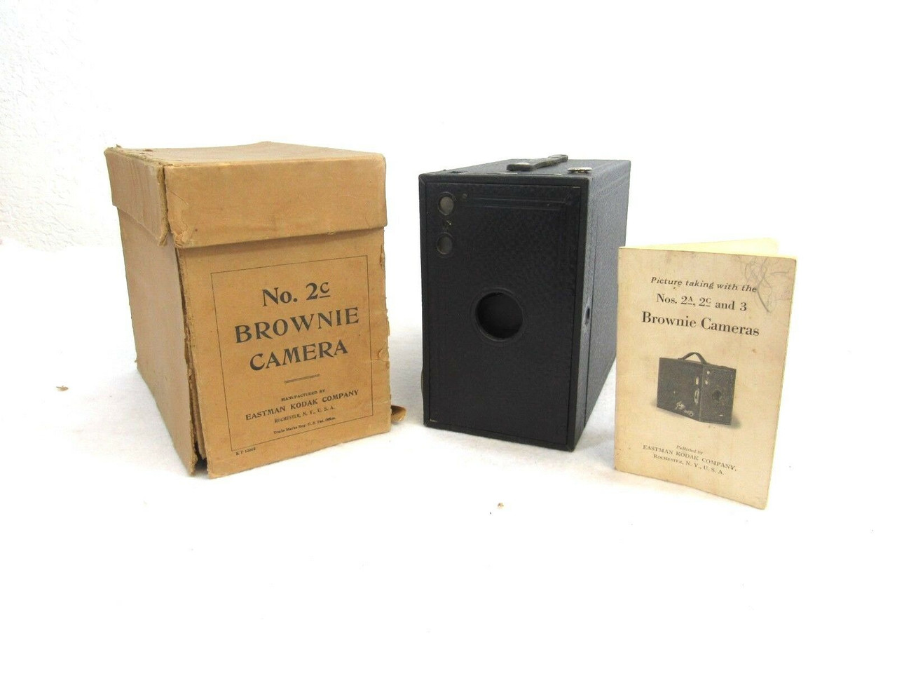 Vintage 1917 Eastman Kodak Brownie Camera No 2c Black Box Rollfilm 24 3 All Things Surplus