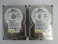 """LOT OF 2 Western Digital WD1600JS WD1600JS-60NCB2 160GB 3.5"""" 7.2K SATA HDD 26-4"""