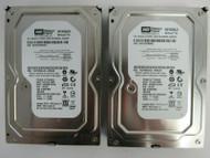 """LOT OF 2 Western Digital WD1600AAJS WD1600AAJS-00B4A0 160GB 3.5"""" SATA HDD 34-4"""