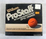 Case of 9 Vintage Wilson ProStaff Optic Orange Truncated Dimple Golf Balls 13-3