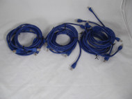 Lot of 10 5FT 24AWG Cat6 550MHz UTP Ethernet Bare Copper Network Cable Blue 9-5