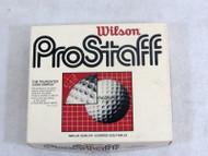 Case of 12 Vintage Wilson ProStaff Truncated Cone Dimple Golf Balls Unused 17-3