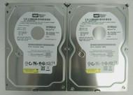 """LOT OF 2 Western Digital WD1600AAJS WD1600AAJS-98PSA0 160GB 3.5"""" SATA HDD 66-3"""