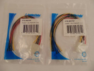 Lot of 2 Cables to Go 03164 10in 5.25in to 3.5in - 5.25in  Power Y Splitter 38-5