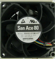 SuperMicro FAN-0125L4 San Ace 80 9GA0812P2M0031 Server Case Fan 1-4