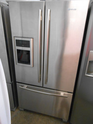 JENN-AIR COUNTER DEPTH FRENCH DOOR REFRIGERATOR BOTTOM FREEZER ICE AND WATER AT DOOR SLIDING ADJUSTABLE GLASS SHELVES 2 PRODUCE DRAWERS 1 LARGE CHEF PANTRY DRAWER PULL OUT FREEZER DRAWER STAINLESS LOCATED IN OUR PORTLAND OREGON APPLIANCE STORE