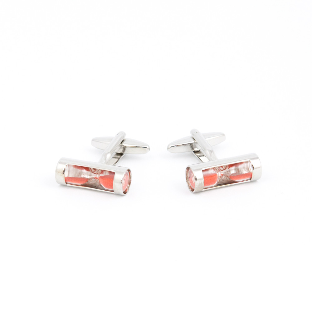Red Sand Hourglass Cufflinks - alternative view - University graduation gift