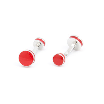 Bold Red Enamel Cufflinks - main view - University graduation gift