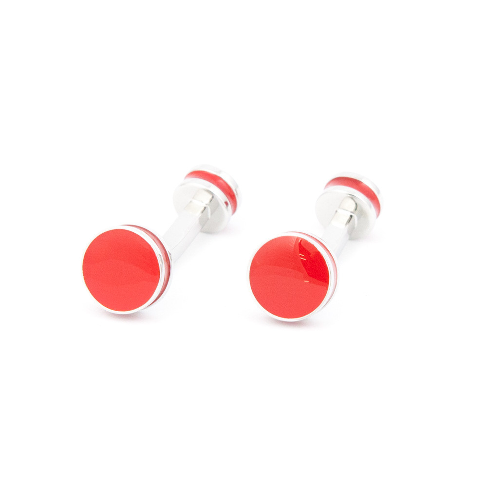 Bold Red Enamel Cufflinks - alternative view - University graduation gift