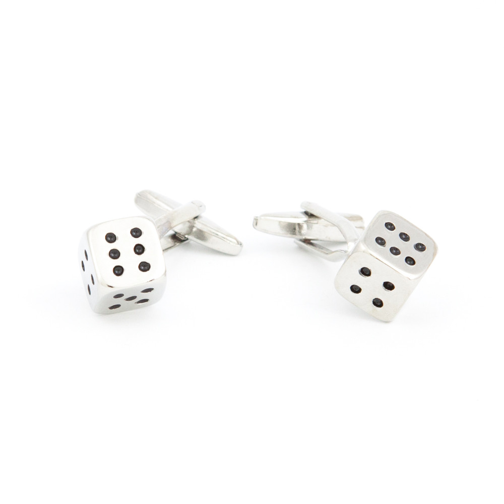 Lucky Dice Cufflinks - alternative view - University graduation gift