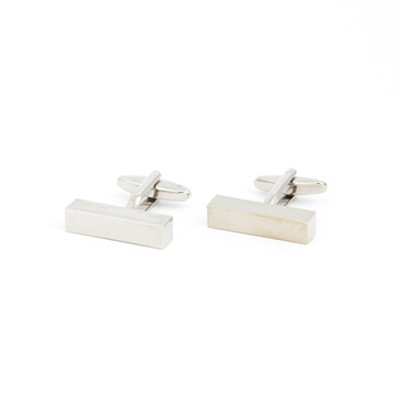 Minimalist Rectangular Prism Cufflinks - main view - University graduation gift