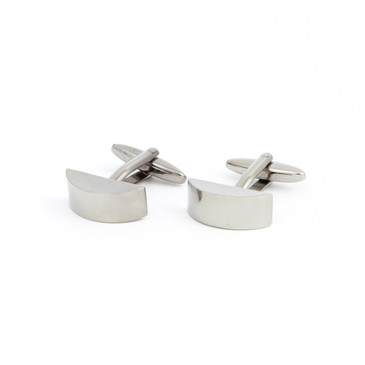 Minimalist Curved Face Cufflinks - main view - University graduation gift
