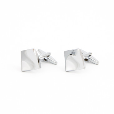 Warped Square Cufflinks - main view - University graduation gift