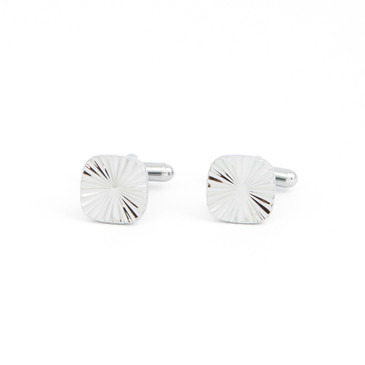 Radial Grooved Cufflinks - main view - University graduation gift