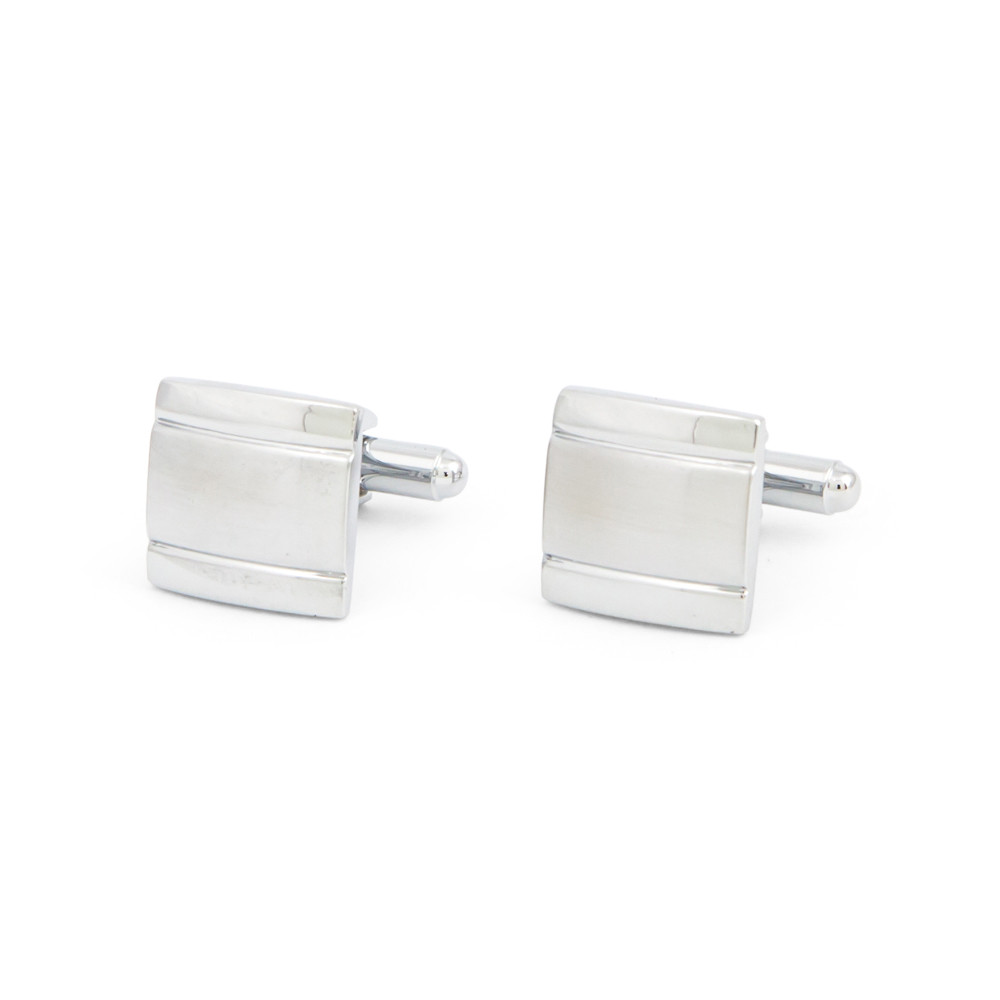Classic Square Grooved Cufflinks - main view - University graduation gift